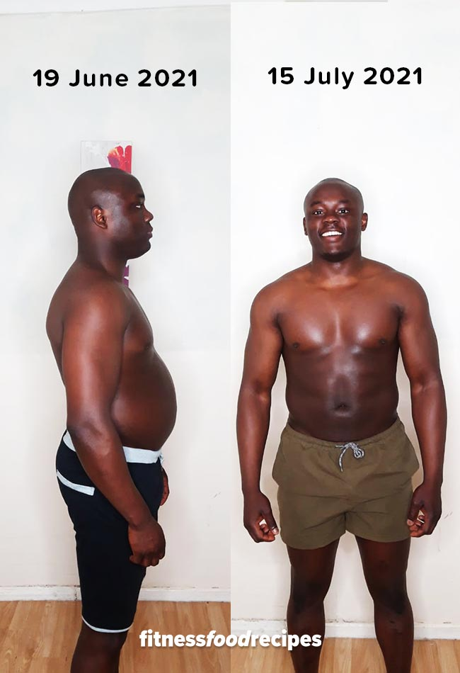 30 days weight loss transformation