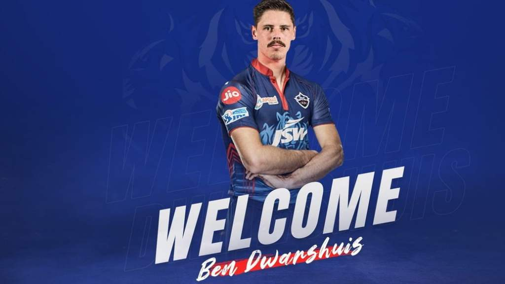 Ben Dwarshuis replaces Chris Woakes in the Delhi Capitals squad