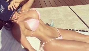 fitness bikini sun bathing