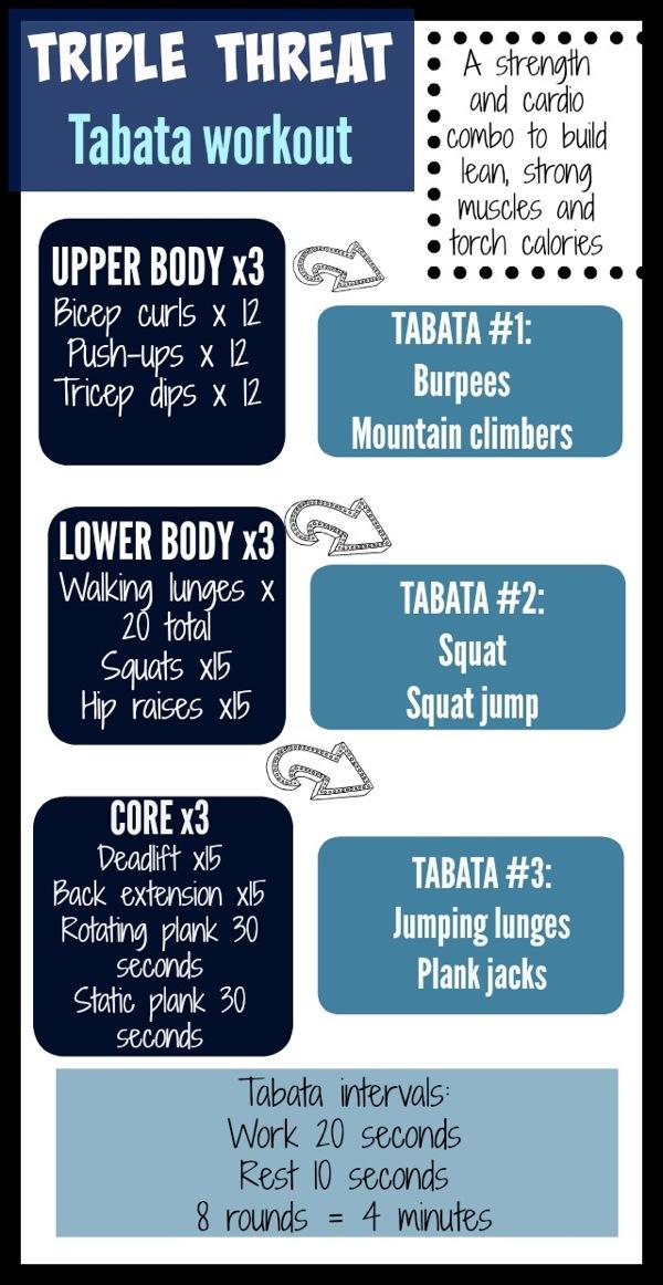Triple threat tabata workout