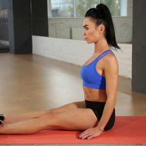 Seated Toe Touches Exercise