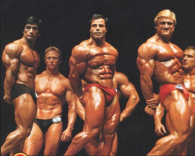 Danny Padila, Franco Columbu, Tom Platz - Mr. Olympia 1981