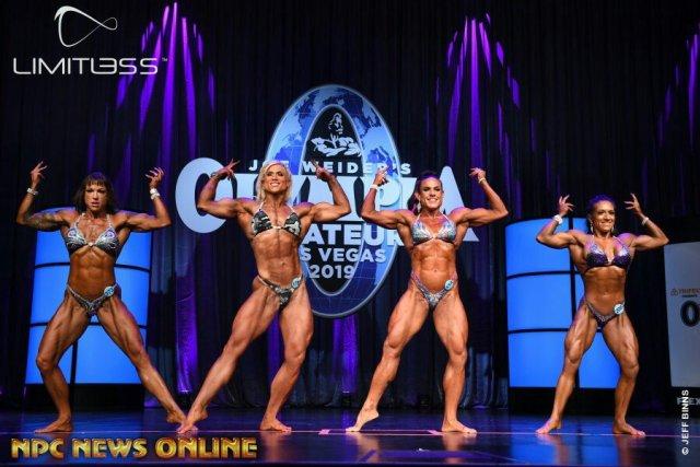 Women's physique overall comparaison Olympia amateur Las Vegas 2019
