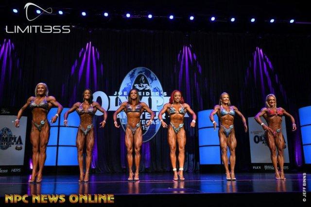 Figure overall comparaison Olympia amateur Las Vegas 2019