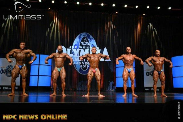 Men's Bodybuilding overall comparaison Olympia amateur Las Vegas 2019