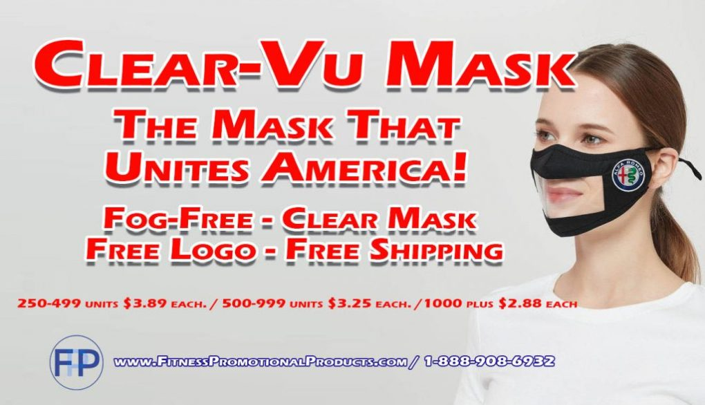 clear mask for business logo