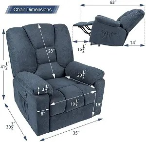 esright chair dimensions