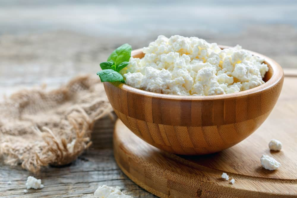 Cottage Cheese is also low in carbs and high in protein and it's around 4.3% fat.