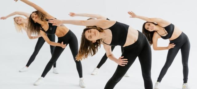 Girls enjoying having a work out partner