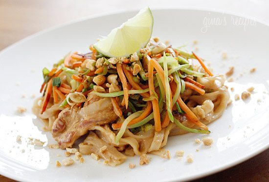 Asian Peanut Noodles & Chicken - Skinnytaste