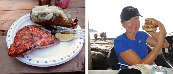 Salmon lunch at Nitinat Narrows & burger heaven at Chez Monquie's