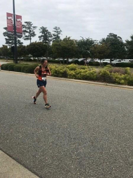 Running on the Crawlin Crab half marathon course.