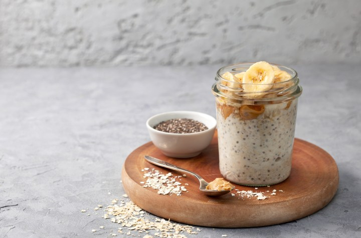protein-rich post-workout overnight oats