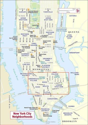 Manhattan map - best areas to stay in NYC