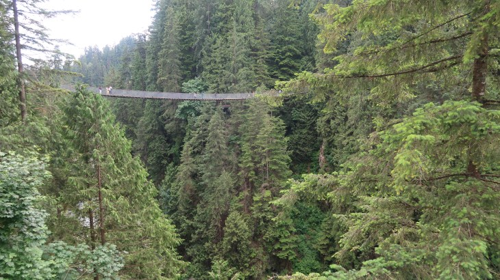 Fit on your trip to Vancouver Top 5 fit things to do - Capilano Suspension Bridge