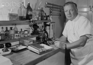 Doctor Werner Forssmann Working in Laboratory