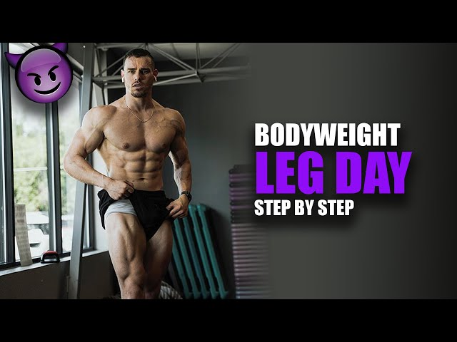 FULL Home Leg Workout in 40 Minutes   Day 3 of Training