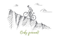 hand-drawn-cyclist-riding-uphill-lettering-vector-forward