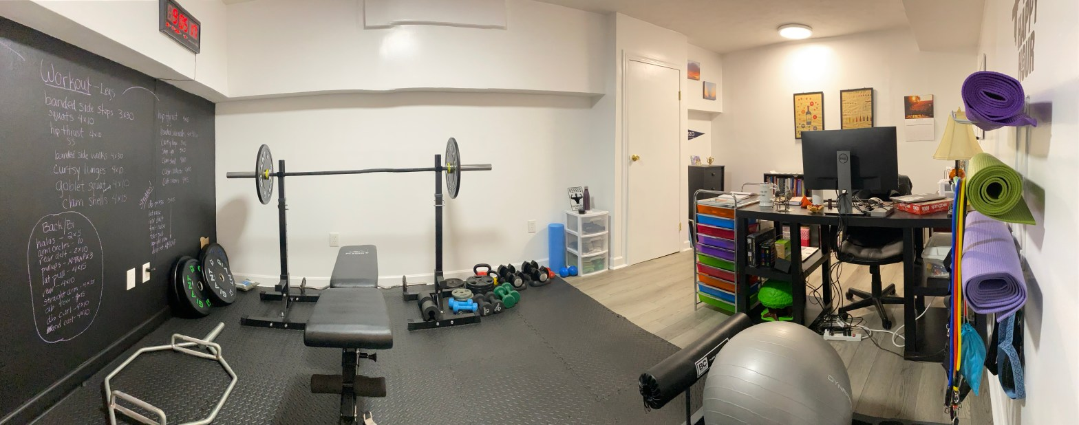 home gym and office