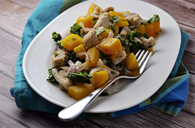 Chicken Hash with Butternut Squash and Kale