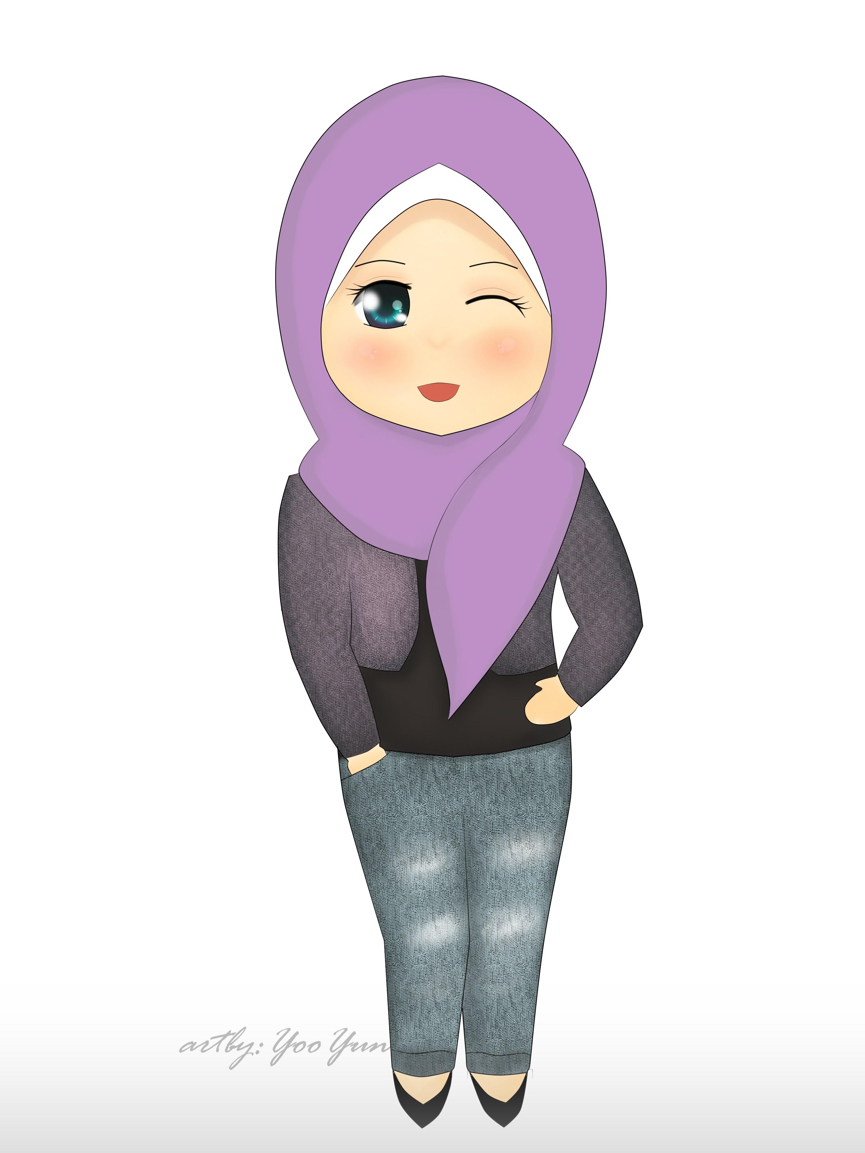 71 Koleksi Gambar Kartun Anak Muslimah Gratis