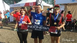 Bersama sesama PB 10K di Titan Run. Ini Pertama kali saya berhasil berlari Full 10K tanpa berjalan.