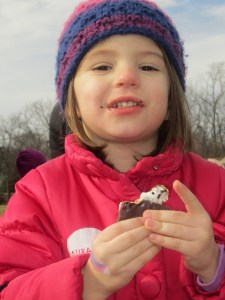 Attended a winter carnival on Saturday where Sara enjoyed her first smore. Um. what's not to love about that.