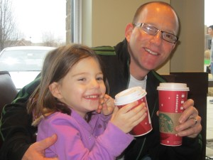 Starbucks break with my two favorite people.