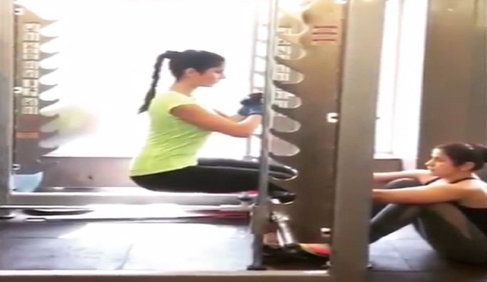 Katrina Kaif's New Workout Video Shows You How To Sit Without A Chair Fitsaurus