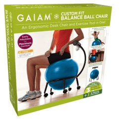 Yoga Ball Chair Reviews Desk Cb2 The Best Top Exercise Seats Gaiam Custom Fit