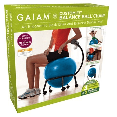 best yoga ball chair reviews air stand the top exercise seats gaiam custom fit