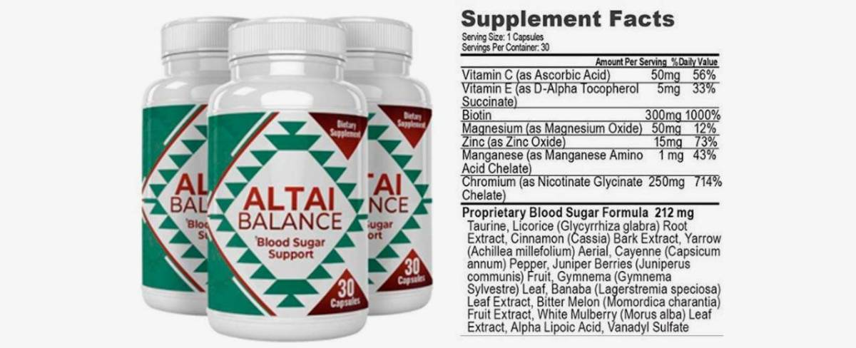 Altai Balance Supplement Facts