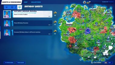 Where to Find Birthday Presents in Fortnite