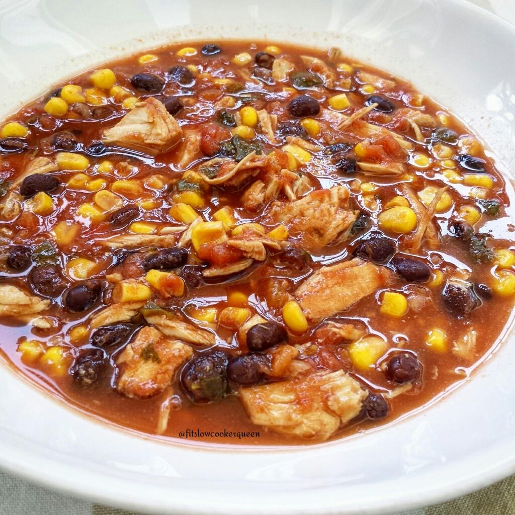 Slow Cooker Tex Mex Turkey Soup