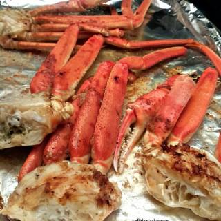 Baked Jerk Crab Legs