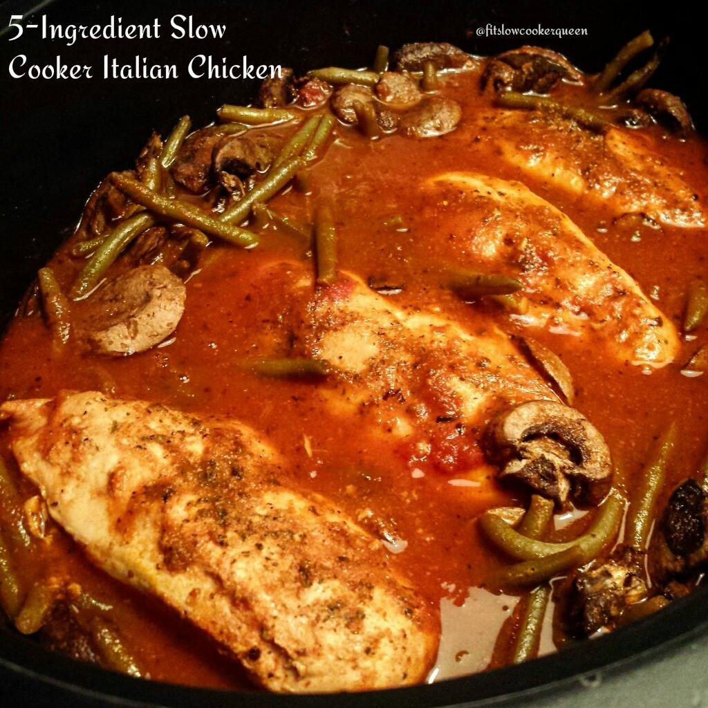 5-Ingredient Slow Cooker Italian Chicken