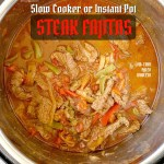 COVER pic for Slow Cooker/Instant Pot Steak Fajitas (Low-Carb, Paleo, Whole30)