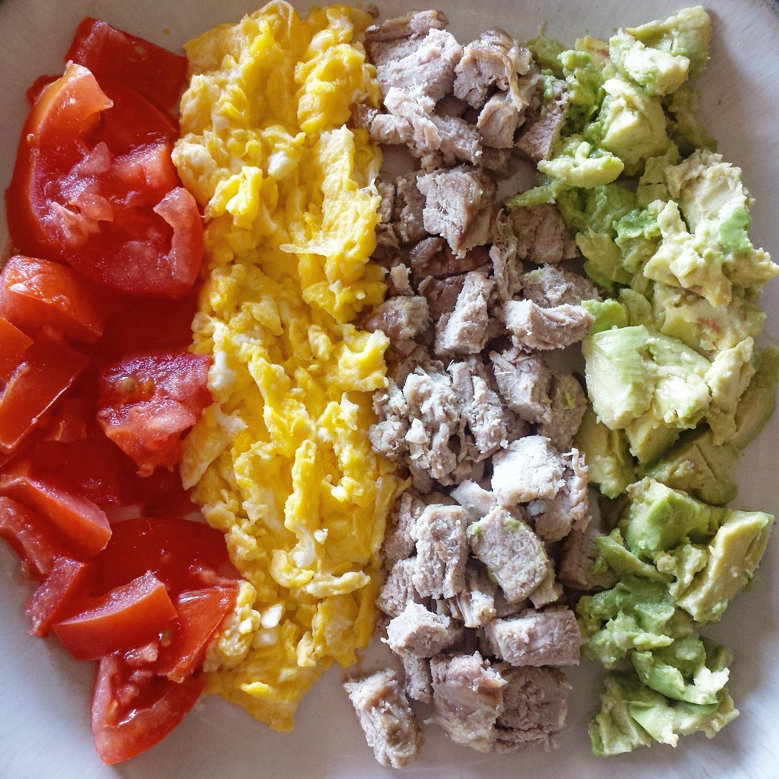 Pork & Egg Cobb Breakfast