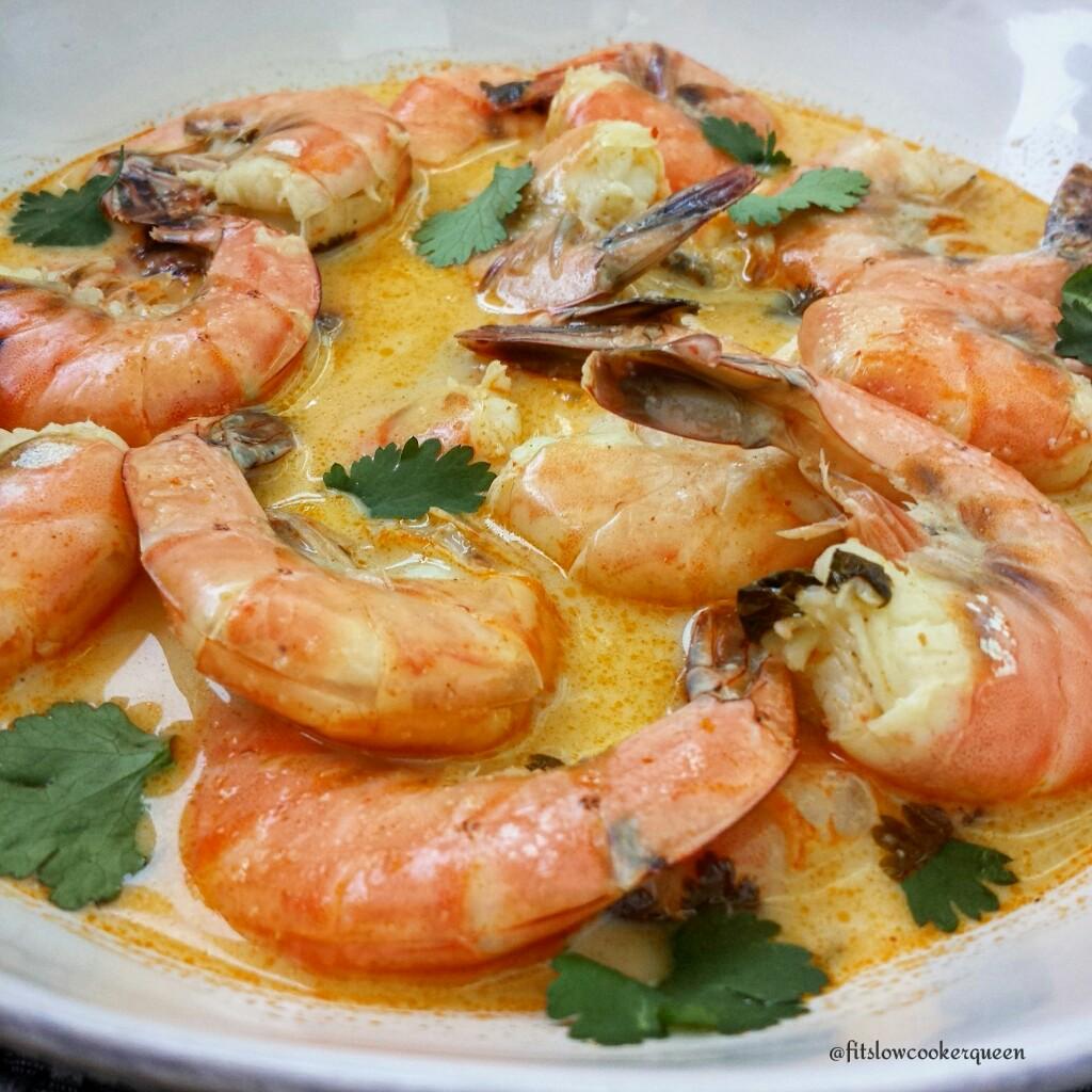 5-Ingredient Slow Cooker Coconut-Cilantro Curry Shrimp