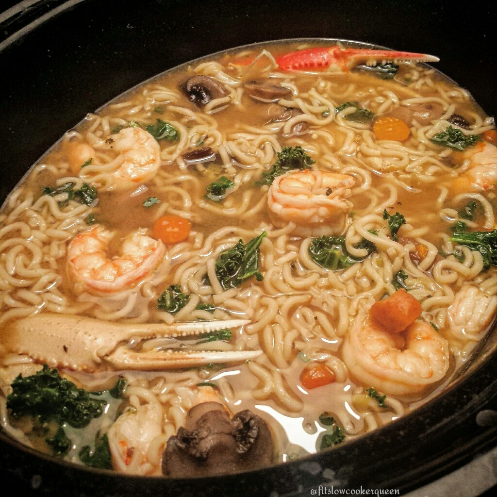 Slow Cooker Seafood Ramen