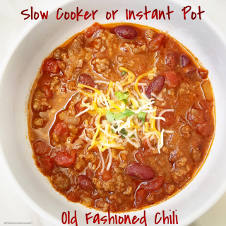 Slow Cooker/Instant Pot – Old Fashioned Chili