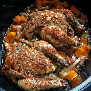 Slow Cooker Creole Cornish Hens