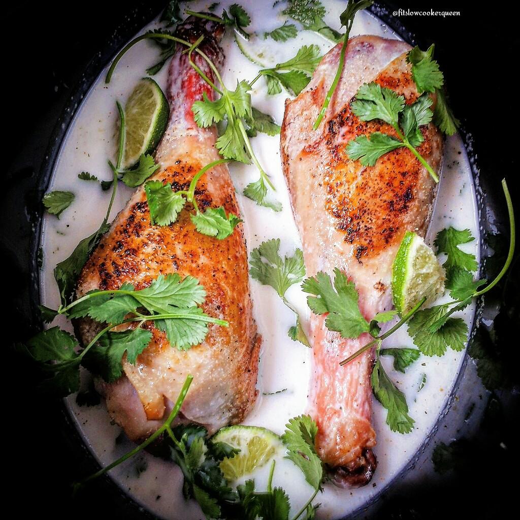 5-Ingredient Slow Cooker Thai Turkey Legs