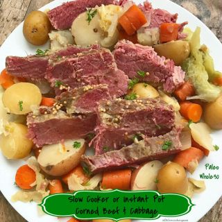 Slow Cooker/Instant Pot Corned Beef and Cabbage (Paleo/Whole30)