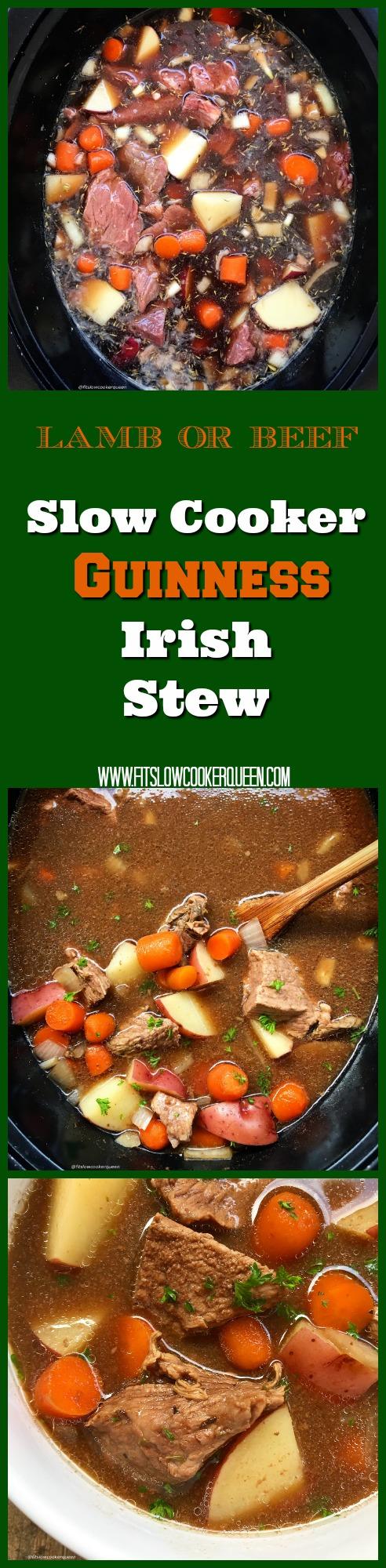 SLOW COOKER GUINNESS IRISH STEW FIT SLOW COOKER QUEEN