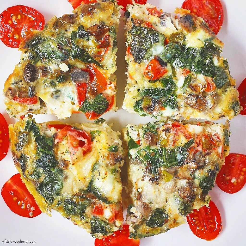 Slow Cooker Vegetable Frittata (Low-Carb) - Fit Slow ...