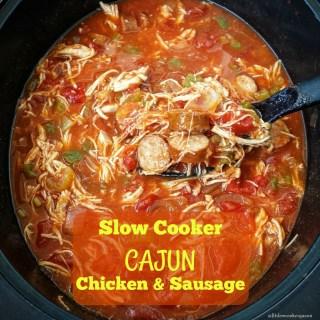 Slow Cooker Cajun Chicken & Sausage (Paleo, Whole30)