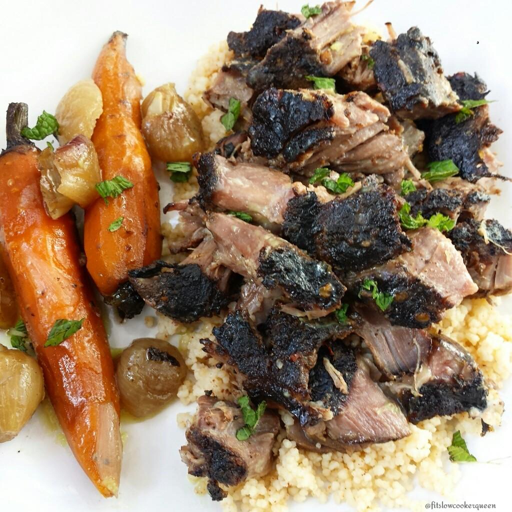Slow Cooker Moroccan Lamb Shoulders