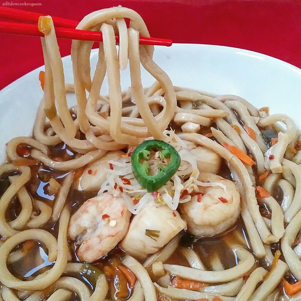 Slow Cooker Seafood Noodle Soup
