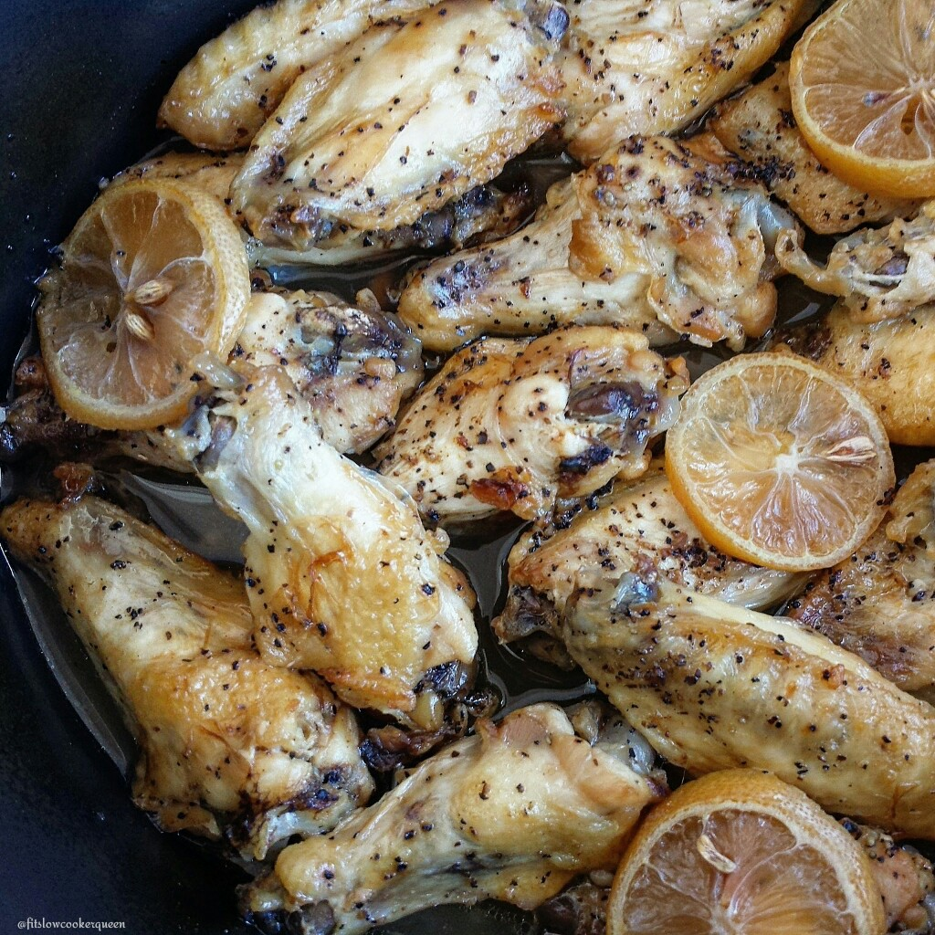 Slow Cooker Lemon-Pepper Wings